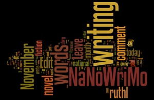 NaNoWriMo-Word cloud by Ruth Livingstone