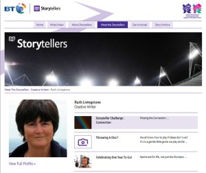 Ruth Livingstone's page on BT Olympic Storyteller site