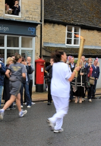 Stamford - Olympic Torch Relay - over in a blur