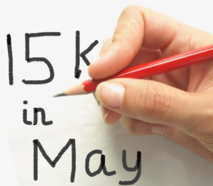 15 K in May, writing habits, Ruth Livingstone