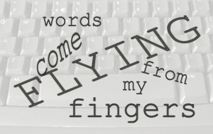 keyboard - flying -words, Ruth Livingstone