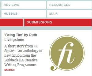 Ruth Livingstone's short story appears on Hubbub writing website