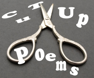 Cut-up poems with scissors and reassemble