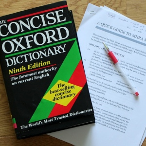 dictionary and copyediting