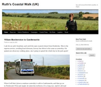 Ruth's Coastal Walking blog snapshot