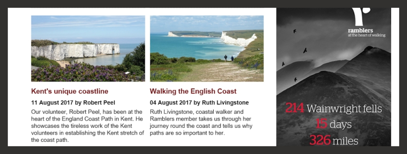 Ruth Livingstone authors a blog post for The Ramblers