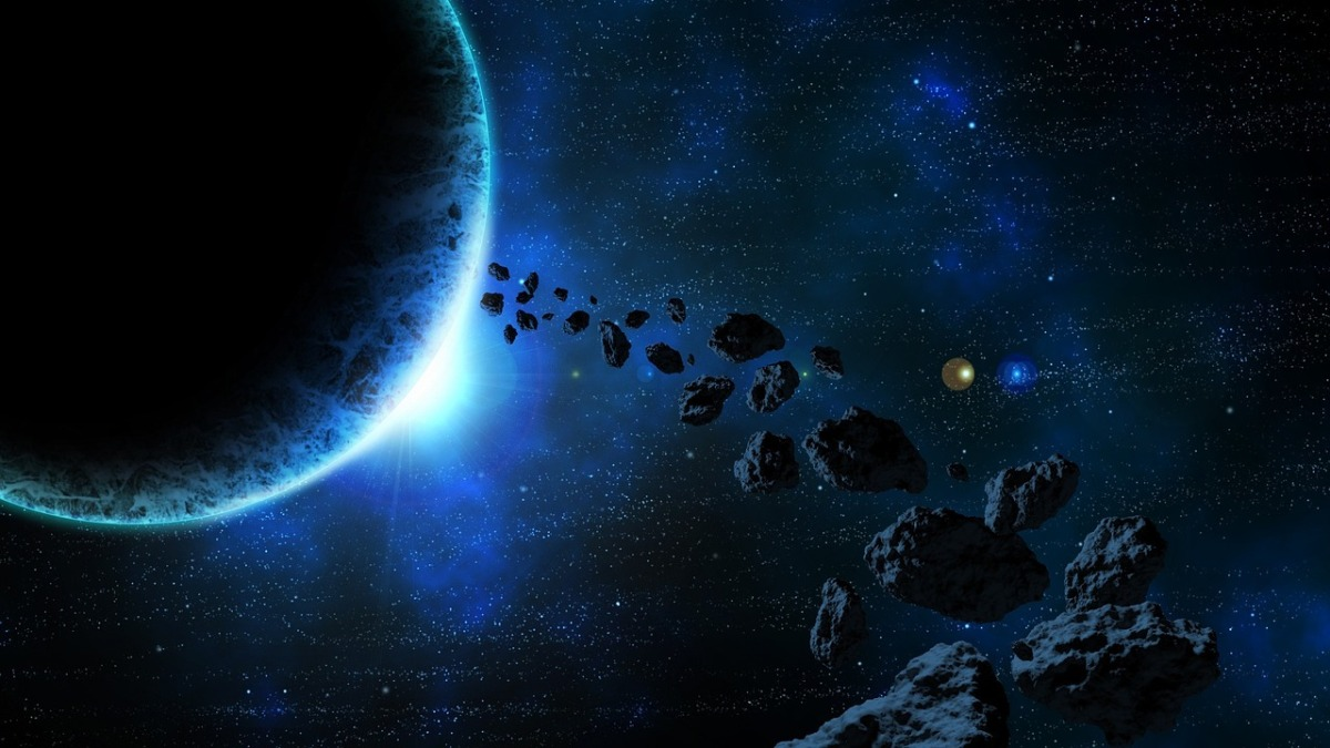 an asteroid belt, the setting of my SF novel for Nanowrimo